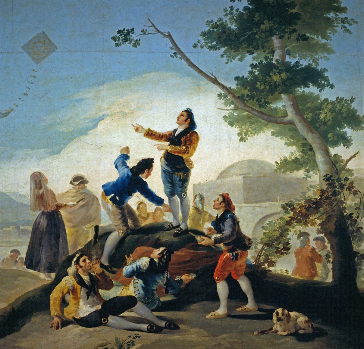 La cometa the kite 1778 museo del prado madrid spain